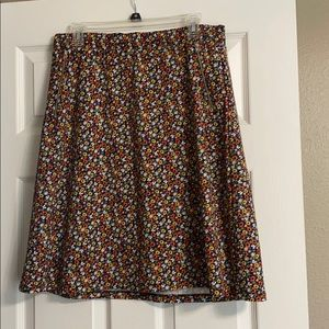 Multi colored flowered skirt. Size 14